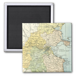 Vintage Map of Dublin and Surrounding Areas (1900) Magnet