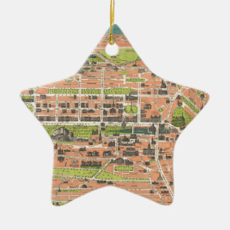 Vintage Map of Edinburgh Scotland (1935) Ceramic Star Ornament