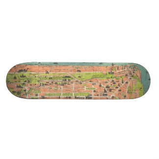 Vintage Map of Edinburgh Scotland (1935) Custom Skateboard