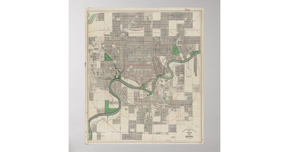 Vintage map of edmonton canada 1912 poster zazzle publicscrutiny Image collections