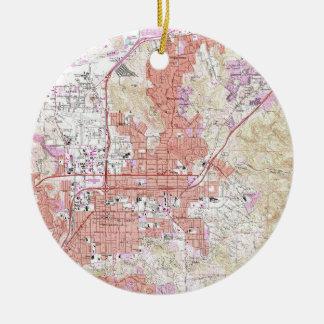 Vintage Map of El Cajon California (1967) Ceramic Ornament