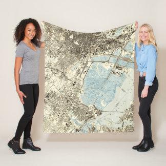 Vintage Map of Elizabeth NJ (1947) Fleece Blanket