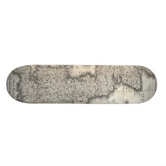 Vintage Map of England and Ireland (1631) Skate Board Deck