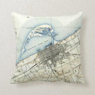 Vintage Map of Erie Pennsylvania (1899) Throw Pillow