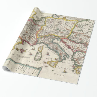 Vintage Map of Europe (1657) Wrapping Paper