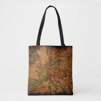 Vintage Map of Europe 1740 Tote Bag