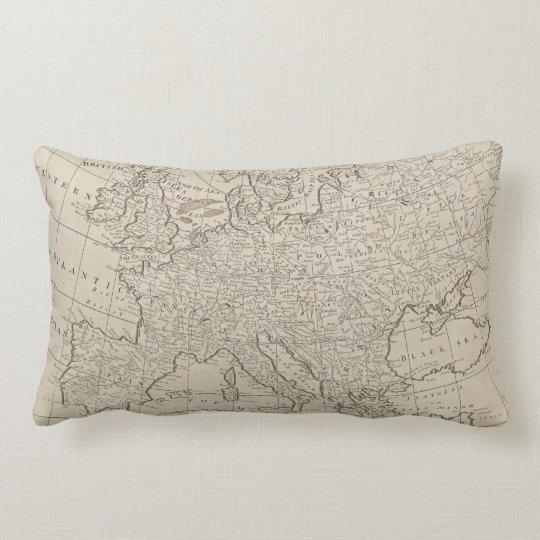 Vintage Map of Europe (1800) Lumbar Pillow