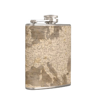 Vintage Map of Europe (1804) Hip Flask