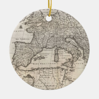 Vintage Map of Europe (1852) Ceramic Ornament
