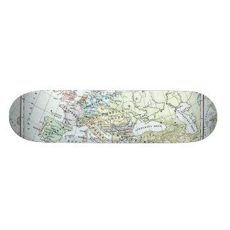 Vintage Map of Europe (1899) Custom Skate Board