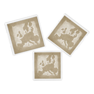 Vintage Map Of Europe Acrylic Tray