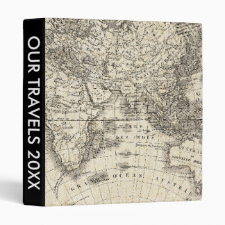 Vintage Map Of Europe and Asia 3 Ring Binder