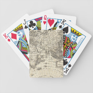 Vintage Map Of Europe and Asia Bicycle Playing Cards