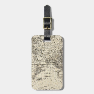 Vintage Map Of Europe and Asia Luggage Tag