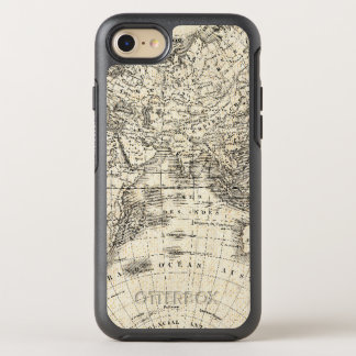 Vintage Map Of Europe and Asia OtterBox Symmetry iPhone 8/7 Case