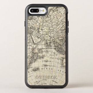 Vintage Map Of Europe and Asia OtterBox Symmetry iPhone 8 Plus/7 Plus Case