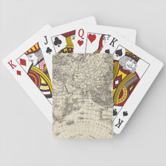 Vintage Map Of Europe and Asia Playing Cards