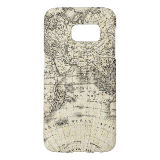 Vintage Map Of Europe and Asia Samsung Galaxy S7 Case
