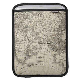 Vintage Map Of Europe and Asia Sleeves For iPads