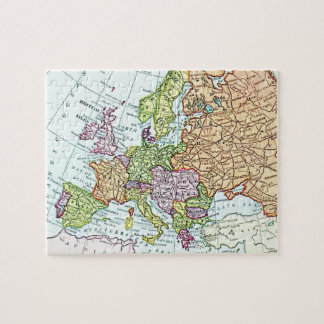 Vintage map of Europe colorful pastels Jigsaw Puzzle