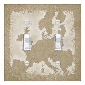 Vintage Map Of Europe Light Switch Cover