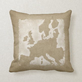 Vintage Map of Europe Throw Pillow