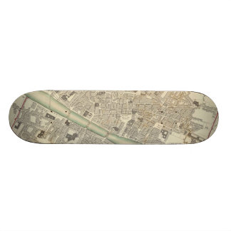 Vintage Map of Florence Italy (1835) Skate Deck
