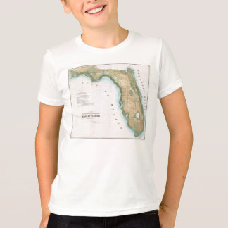 Vintage Map of Florida (1848) T-Shirt