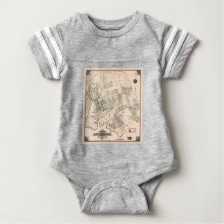 Vintage map of Flushing 1894 Baby Bodysuit