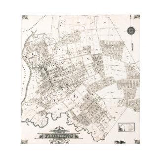 Vintage map of Flushing 1894 Notepad