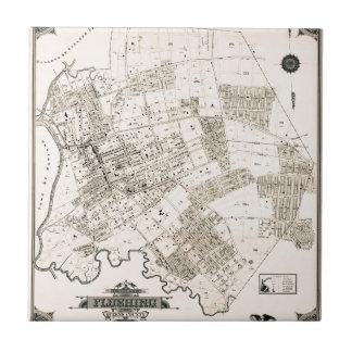 Vintage map of Flushing 1894 Tile