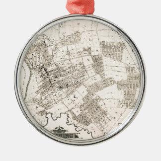 Vintage map of Flushing New York 1894 Metal Ornament