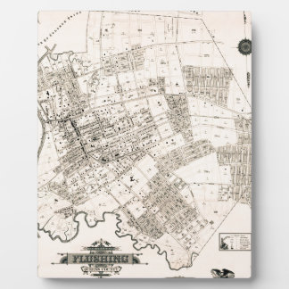 Vintage map of Flushing New York 1894 Plaque