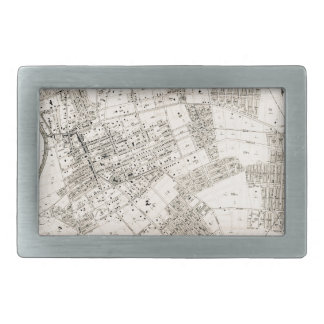 Vintage map of Flushing New York 1894 Rectangular Belt Buckle