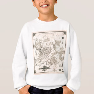 Vintage map of Flushing New York 1894 Sweatshirt