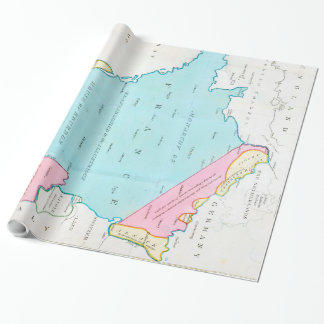 Vintage Map of France (1793) Poster Wrapping Paper