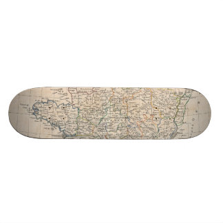 Vintage Map of France (1799) Custom Skate Board