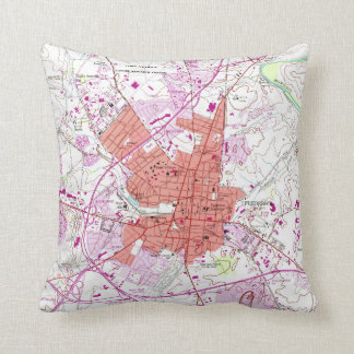 Vintage Map of Frederick Maryland (1953) 2 Throw Pillow