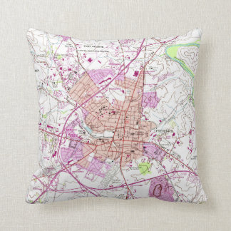 Vintage Map of Frederick Maryland (1953) Throw Pillow