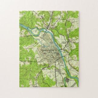 Vintage Map of Fredericksburg Virginia (1944) Jigsaw Puzzle
