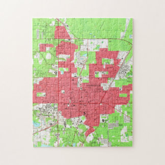 Vintage Map of Gainesville Florida (1966) 2 Jigsaw Puzzle