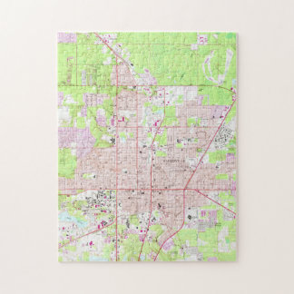 Vintage Map of Gainesville Florida (1966) Jigsaw Puzzle