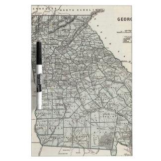 Vintage Map of Georgia (1845) Dry-Erase Whiteboard