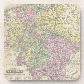 Vintage Map of Germany (1853) Coaster