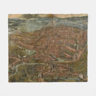 Vintage Map of Ghent Belgium (1534) Fleece Blanket