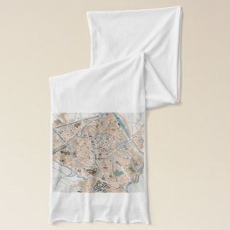 Vintage Map of Ghent Belgium (1905) Scarf