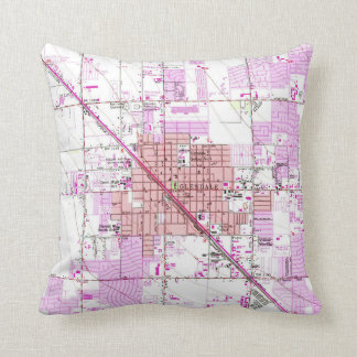 Vintage Map of Glendale Arizona (1957) Throw Pillow