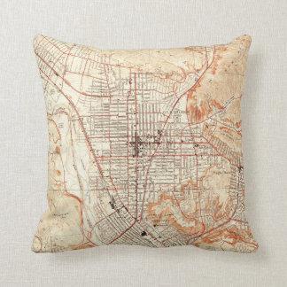 Vintage Map of Glendale California (1928) Throw Pillow