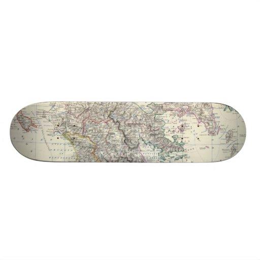 Vintage Map of Greece (1861) Skateboards