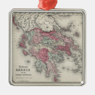 Vintage Map of Greece (1865) Metal Ornament
